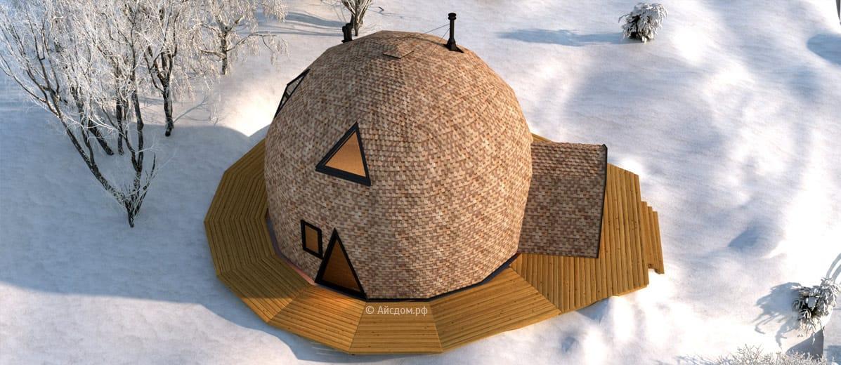 Как сделать крышу с замком